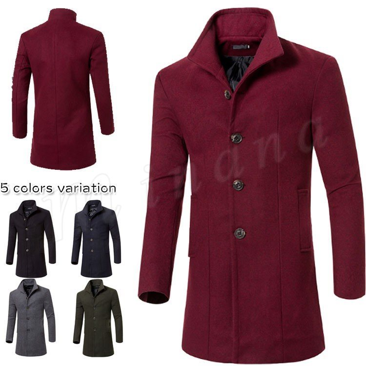 ビジネスコート ピーコート メンズコート ツイードコート アウター メンズ コート 全5色 Pコート ビジネス アメカジ 厚手 防風 防寒 お