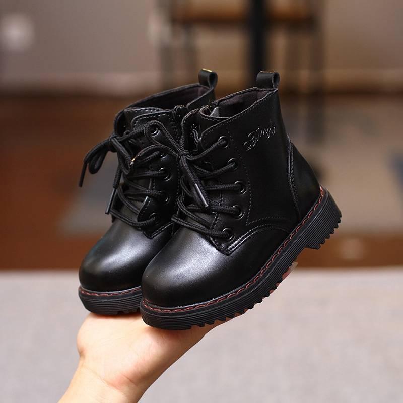 マーティンブーツ キッズ 男の子 女の子 男女兼用 イギリス風 ショートブーツ 子供靴 ジュニアブーツ おしゃれ ブラック ブラウン